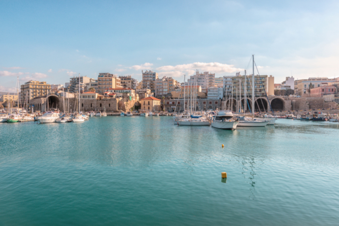 Heraklion is the main city of the island of Crete.