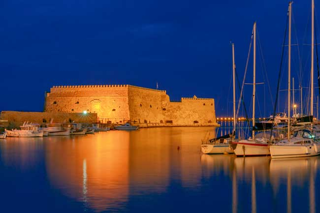 The Koules Fortress (Rocca al Mare), it is located at Heraklio's port and it is part of the legacy left by the Venetian occupation of the island.